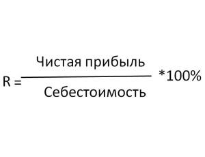 Расчет показателя ROM