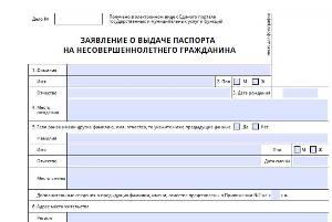 бланк анкеты-заявления
