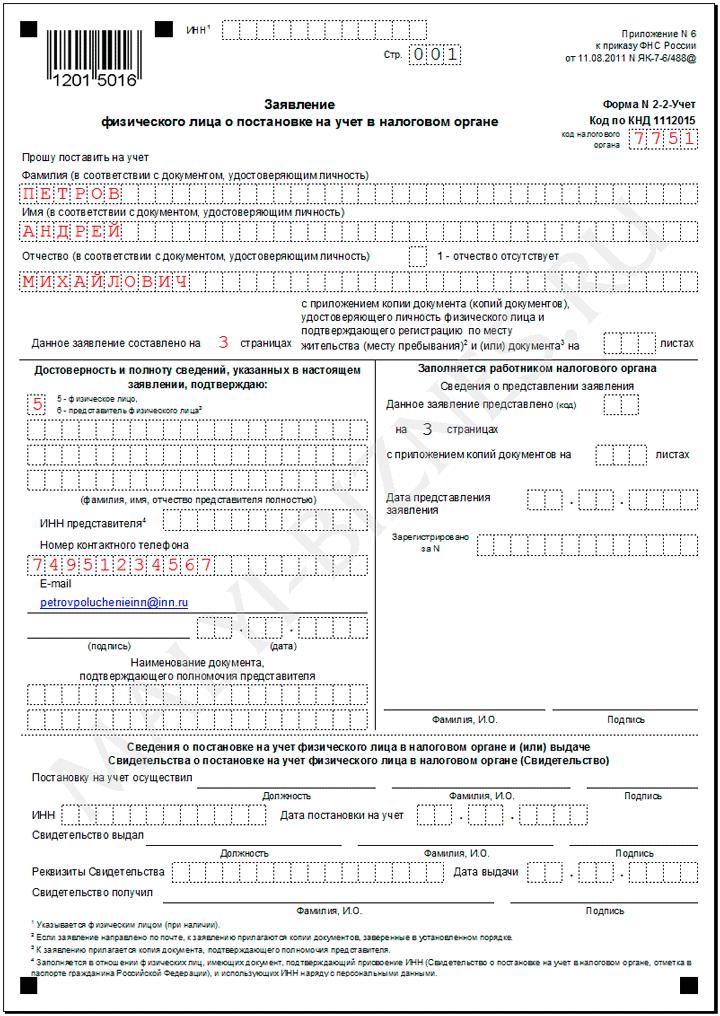 Образец Заполнения Анкета Зарегистрированного Лица Для Физических Лиц - фото 6